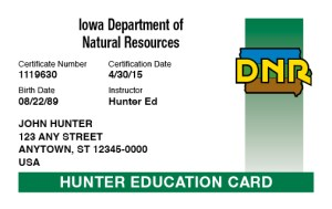 DNR Hunters Safety FIELD Day Course @ CrossRoads Shooting Sports | Johnston | Iowa | United States