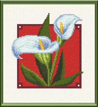 Calla Lilies Cross Stitch Pattern flowers