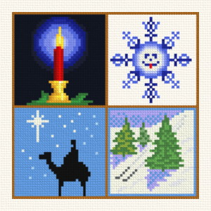 Small Christmas Designs 8 Cross Stitch Pattern Motifs
