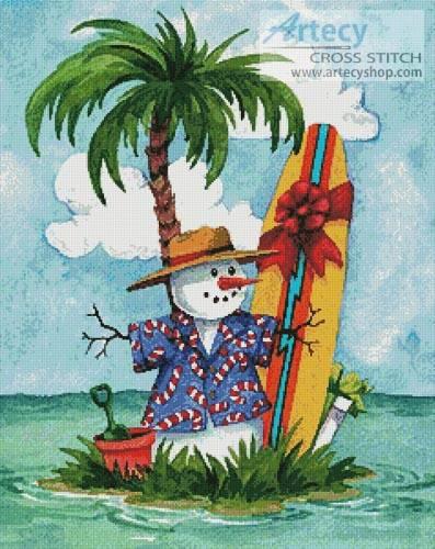 Tropical Art Christmas Clip