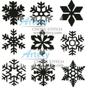 Snowflakes Cross Stitch Pattern snowflakes