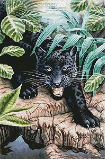 Black Panther Animal Wallpaper Black Panther In The Jungle Cross Stitch Pattern Wild