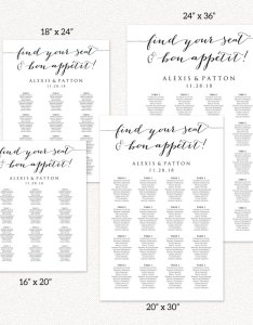 Bon appetit seating charts also wedding templates and printables rh crossvinedesigns