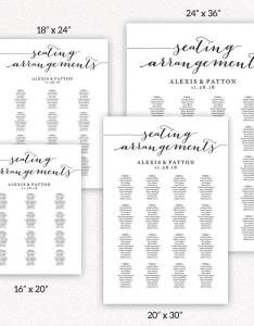 Seating arrangements templates also wedding and printables rh crossvinedesigns