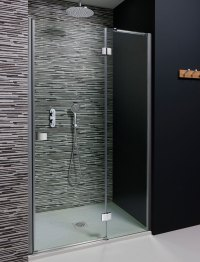 Design Hinged Shower Door with Inline Panel in Frameless ...