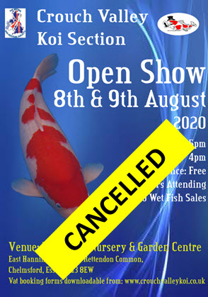 2020 Open Show Cancelled