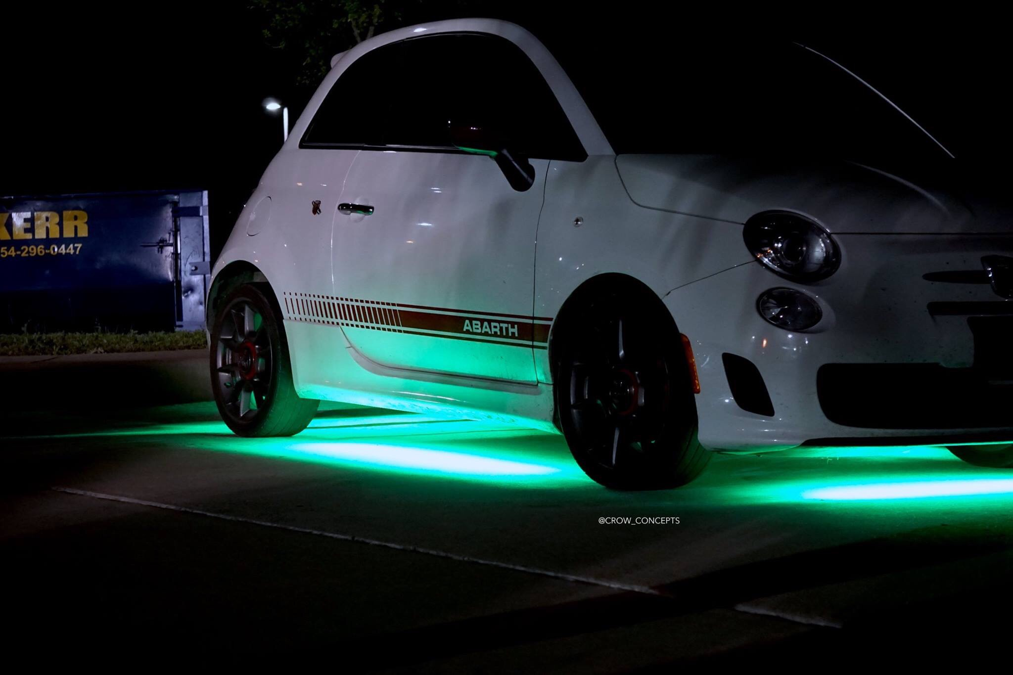 Fiat 500 Abarth Underglow Crow Concepts