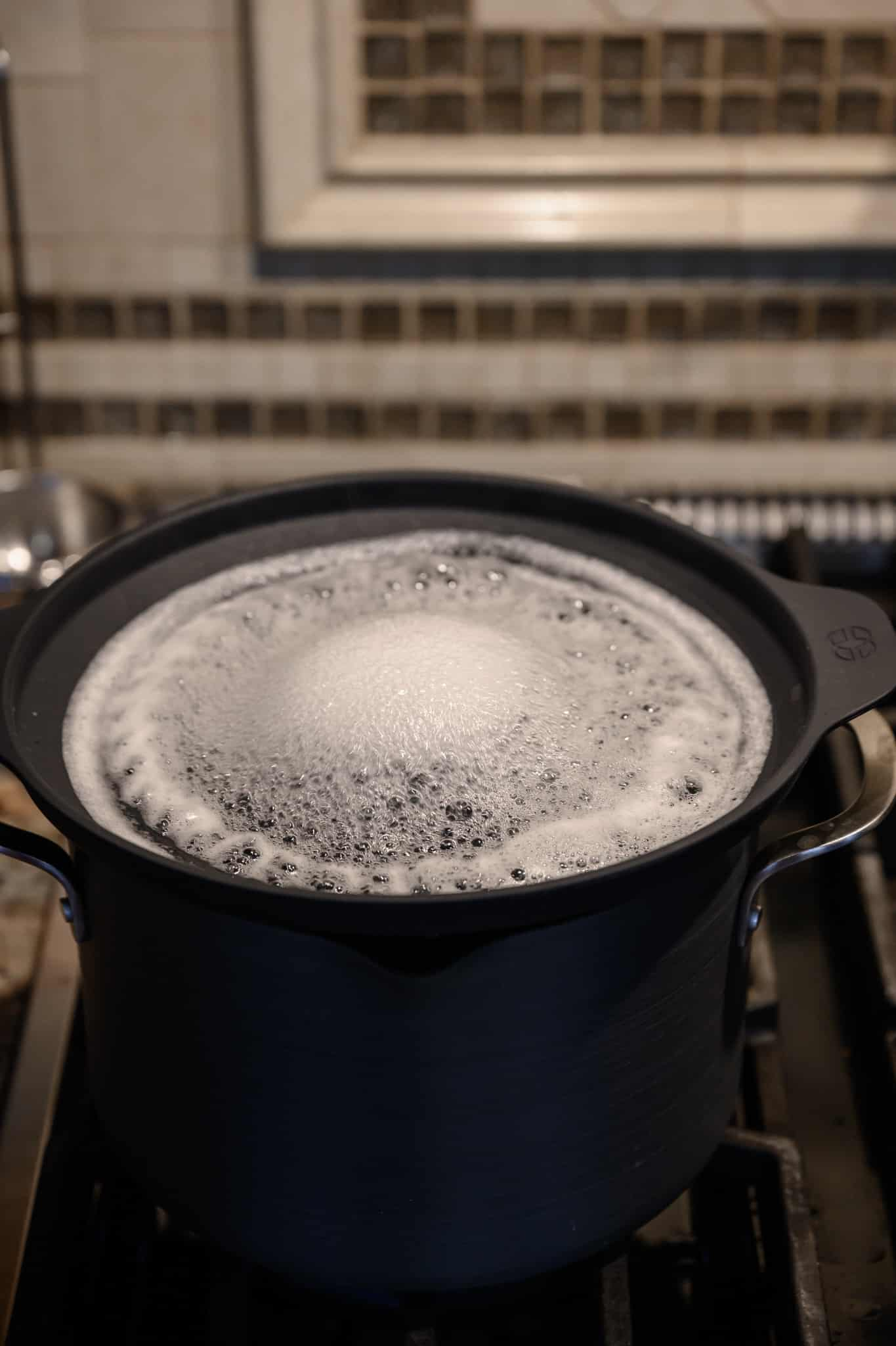 Calphalon no boil over insert on stovetop