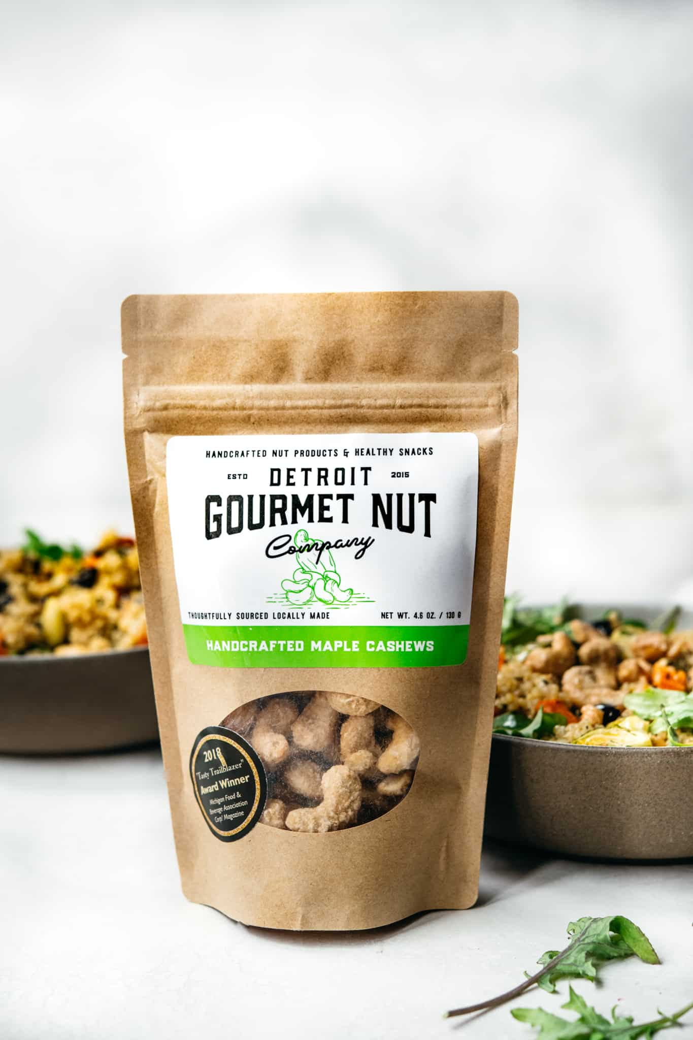 Detroit Gourmet Nut Company handcrafted maple cashews