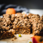 side view of vegan apricot bars