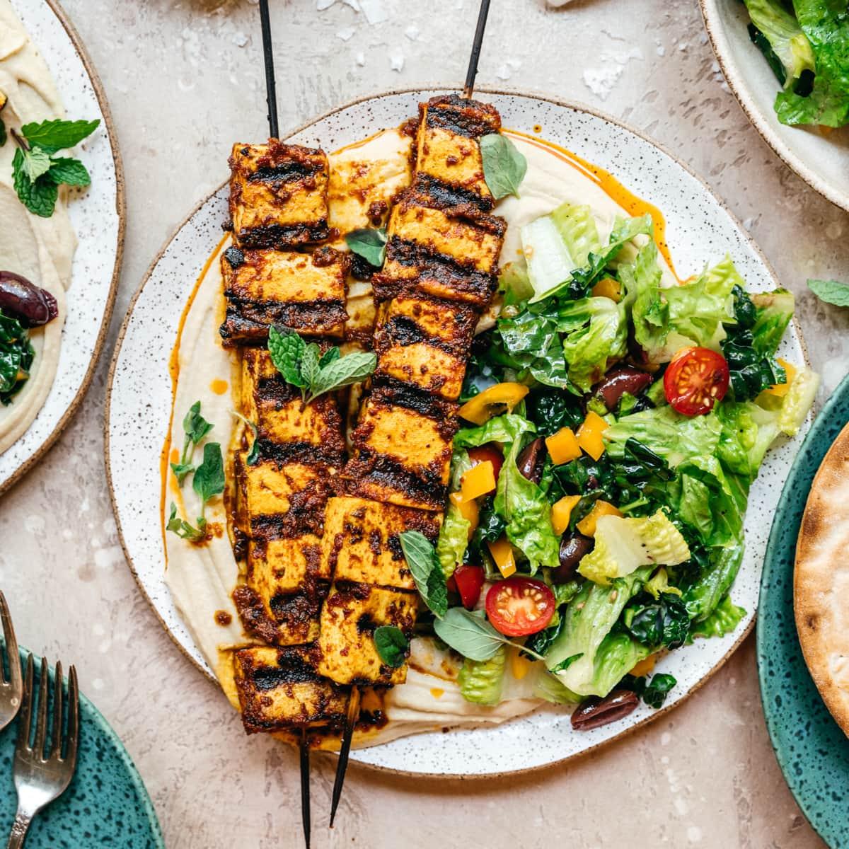 Mediterranean Grilled Tofu Kebabs Vegan Crowded Kitchen