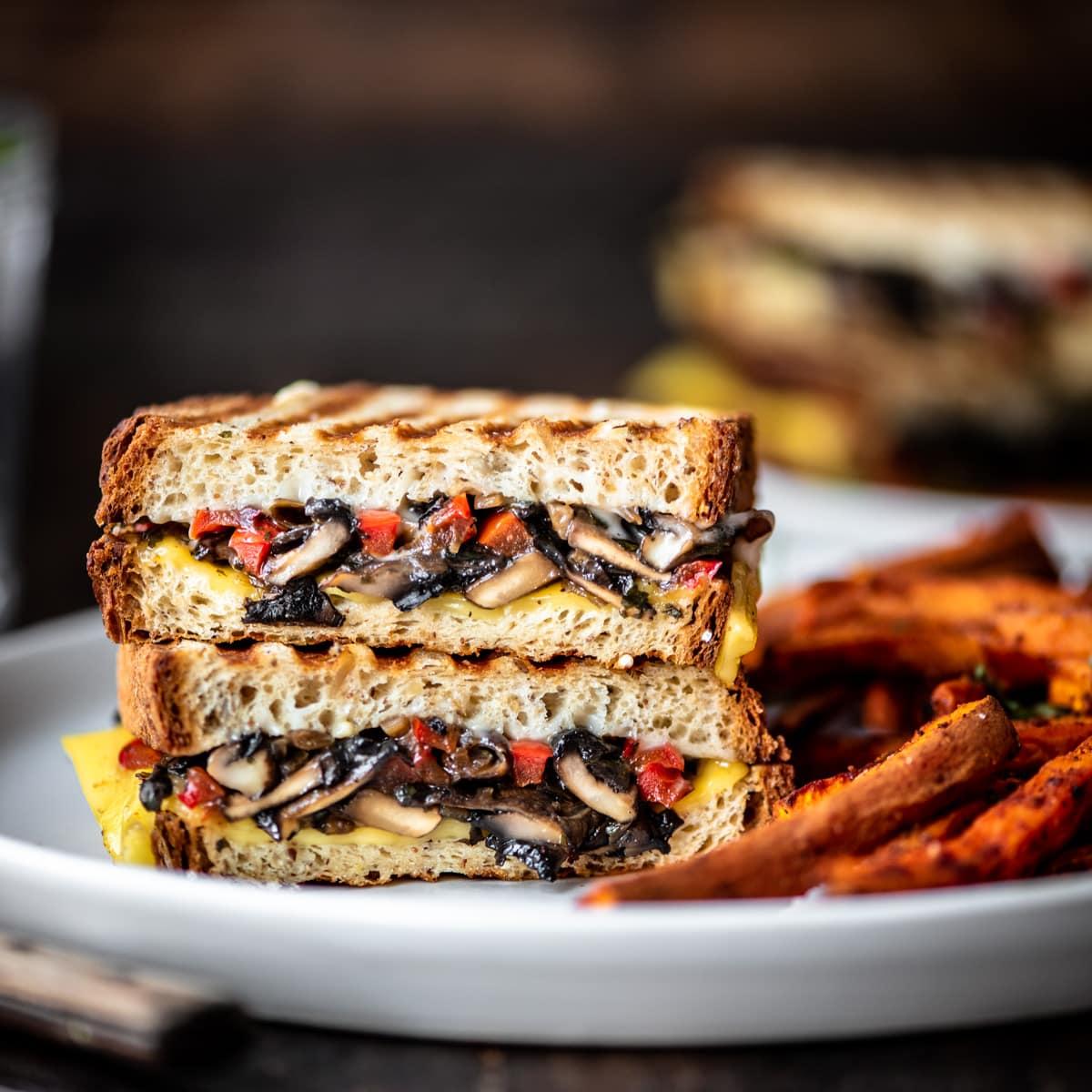 Portobello Mushroom Panini Vegan Gluten Free Crowded Kitchen