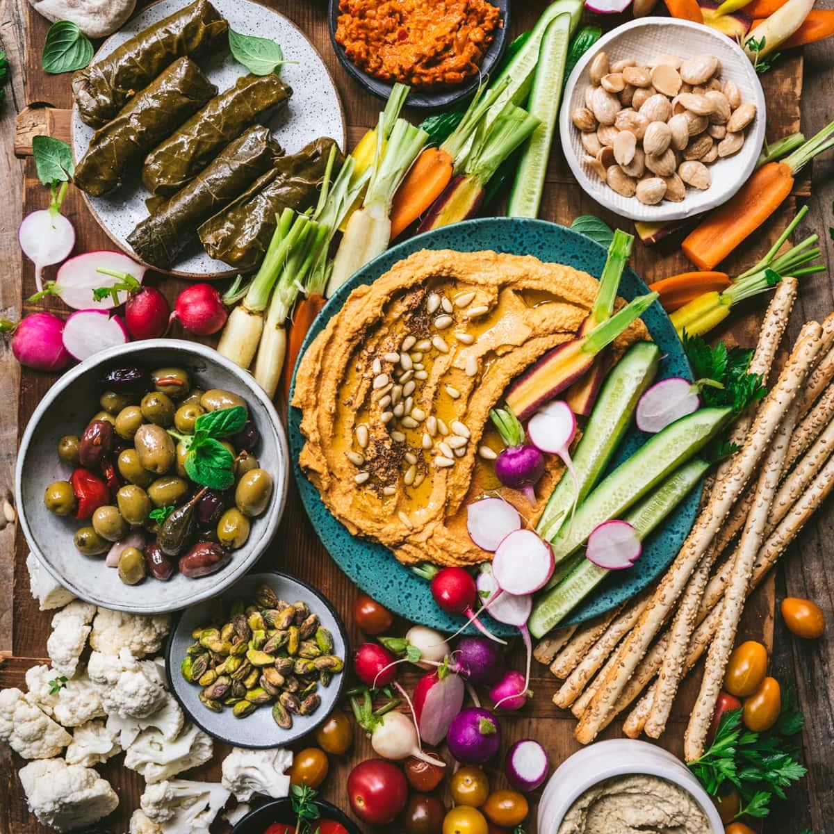 Vegan Mezze Platter Crowded Kitchen