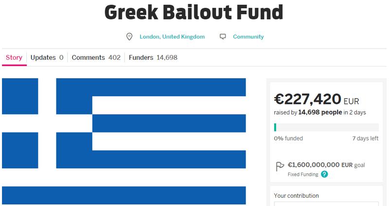 Crowdfunding per salvare la Grecia