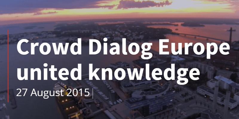 Crowd Dialog crowd advisors Helsinki crowd economy
