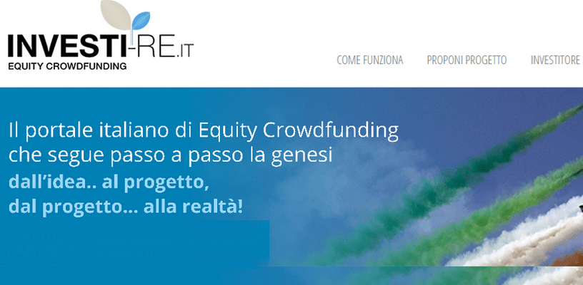 Investi-Re equity crowdfunding piattaforma italiana