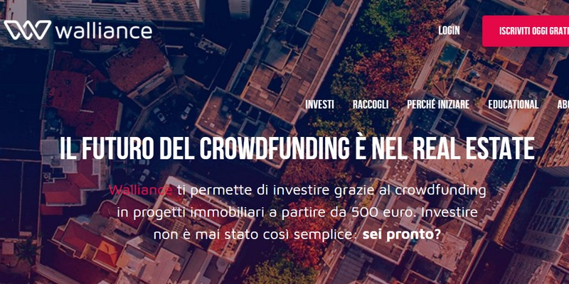Walliance lancia equity crowdfunding per real estate in Italia