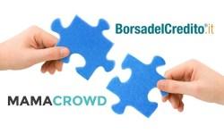 Partnership Borsadelcredito Mamacrowd P2P lending equity crowdfunding
