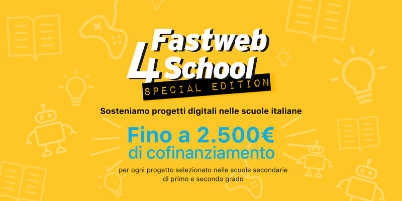 Marketing e crowdfunding Fastweb lancia la call Fastweb4School