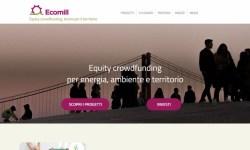 Lanciata Ecomill prima piattaforma equity crowdfunding green