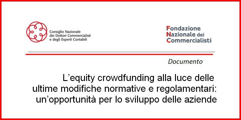 Fondazione commercialisti studio equity crowdfunding