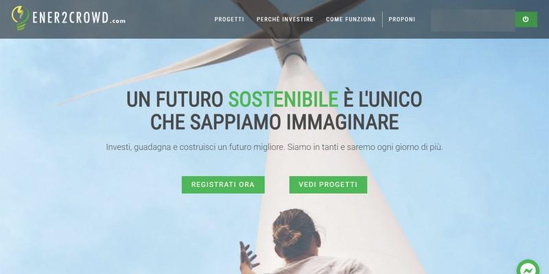 Al via Ener2Crowd prima piattaforma di lending crowdfunding dedicata alla green economy