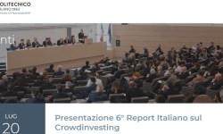 Presentazione 6 report Crowdinvesting Osservatorio Politecnico