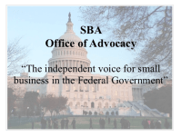 SBA Office of Advocacy The Independent Voice for Small Business