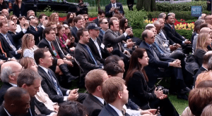 The crowd at the signing of the JOBS Act