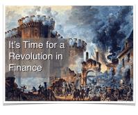 A Revolution in Finance