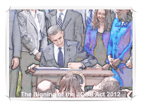 The Signing of the JOBS Act Framed