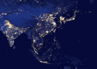 South East Asia at Night