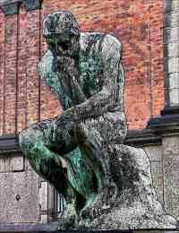 The Thinker Rodin Art