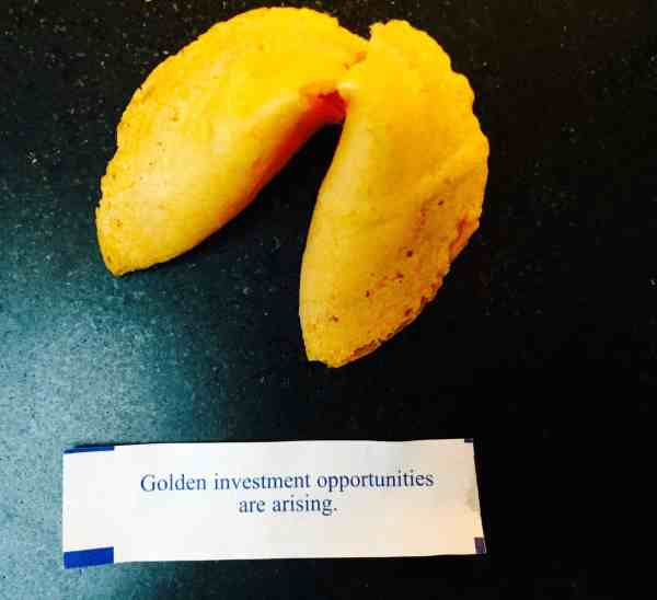Fortune Cookie Golden Investments Ahead Future