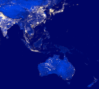 Asia Pacific at Night