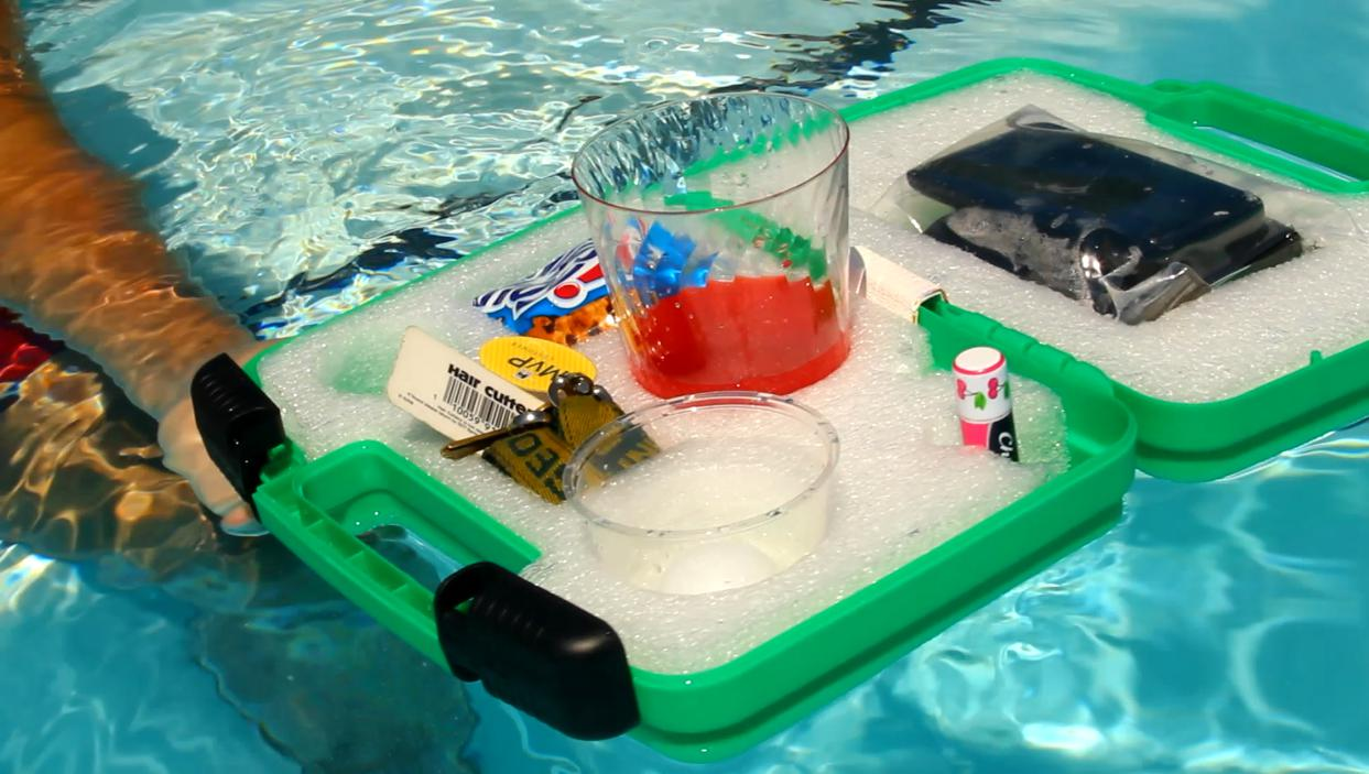 Floating Valet BeachPool Water Caddy and Smart Phone