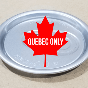 Silver Pop Top Lids - Quebec Only