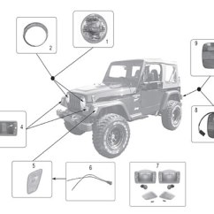2002 Jeep Wrangler Ac Wiring Diagram Home Stereo System Lamps 97 06 Crown Automotive Sales Co