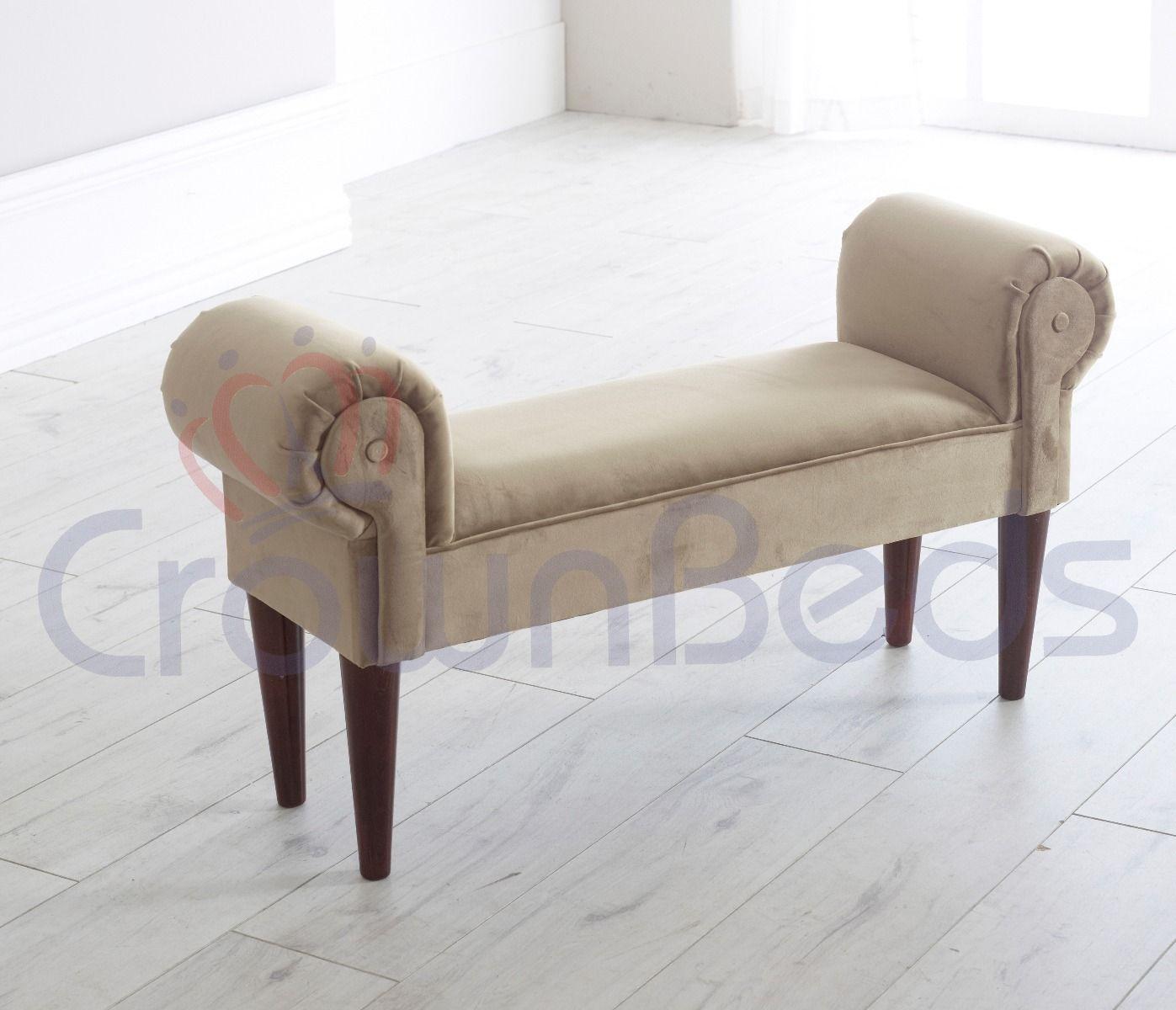 chaise longue lounge bench plush velvet various colours