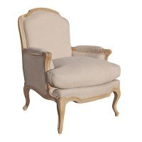 Villeneuve Oak French Sofa Chair | Contemporary Oak ...