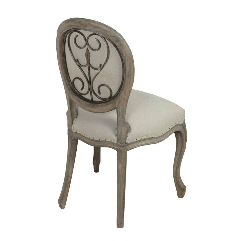Dorset French Style Metal Back Dining Chair