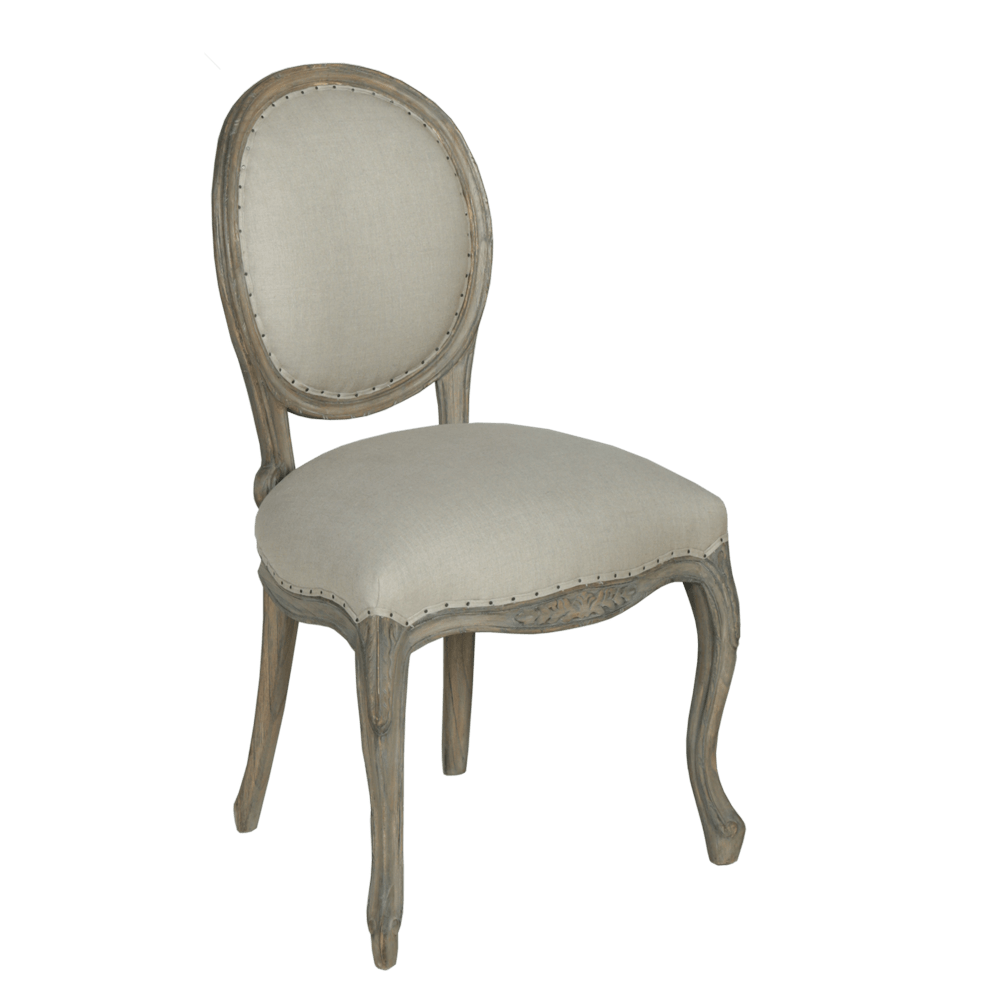 Dorset French Style Metal Back Dining Chair  French Style