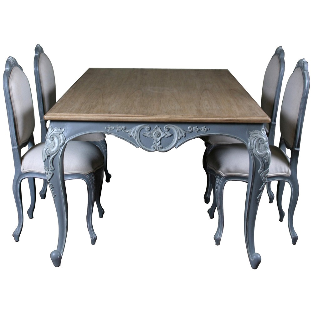 Lyon French Carved Dining Table French Style Dining