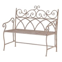 Metal Folding Garden Bench - Crown French Furniture