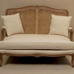 Wooden Frame Sofa Uk Coffee Table Set Louis French 2 Seater With Rattan Back Style