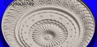 Gypsum ceiling Rose & medaling 100% Quality full design RM-520