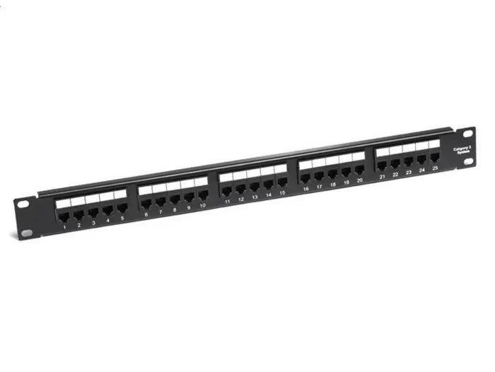 RJ11 1U Cat3 25port Telephone Patch Panels 19Inch Rack
