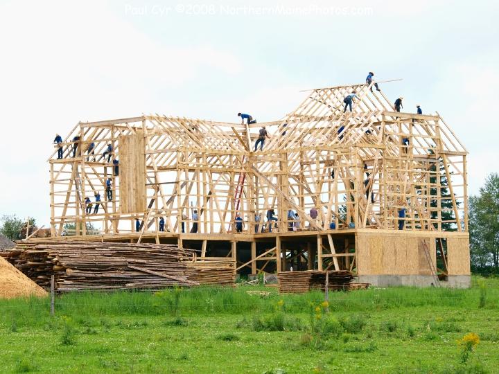 amish barn raising easton