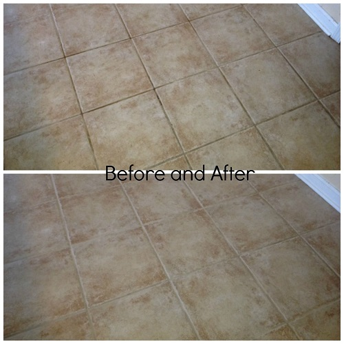 Tile and Grout Cleaning Before and After