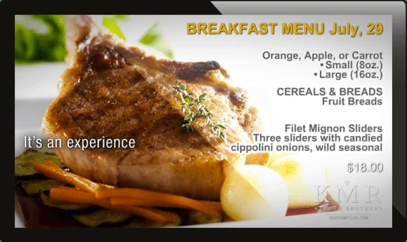 digital menu board, restaurant digital signage, digital signage for restaurants